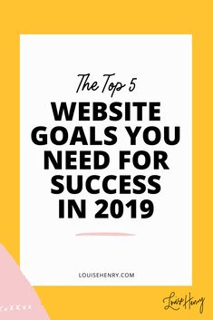 Top five goals for your website if you're an online entrepreneur. You want to monetize your website so you can build a successful business. Check out these 5 website goals to help you build your website and your business.