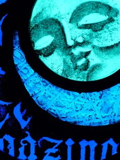 Luna Moon stained glass panel.  Annette Reed
