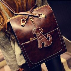 I found the Retro Cute Dog Leather Shoulder Bags Backpacks from ByGoods.com a531cf28e922b