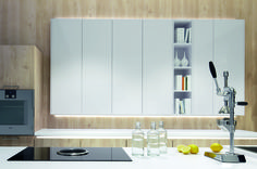 Pronorm Y-Line Gloss Super White with Nordic Wood Natural - Snug Kitchens
