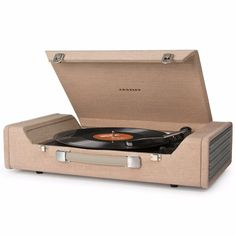Will look great. w 3 ( 573 ). Plug in the USB cable, play your record and watch as the Nomad creates digital files on your computer with the supplied software. 3-speed portable turntable features built-in stereo speakers, auxiliary input, headphone jack and RCA outputs.   eBay!