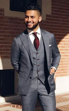 Nice three piece suit for events and business meetings.