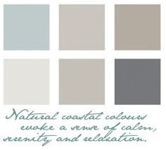 Colors for bathroom or bedrooms Seaside Naturals - Coastal Style                                                                                                                                                     More