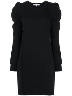 REBECCA MINKOFF 缩褶套头式连衣裙. #rebeccaminkoff #cloth Rebecca Minkoff, Black Cotton, Size Clothing, Women Wear, High Neck Dress, Sweaters, Fashion Design, Passion, Dresses