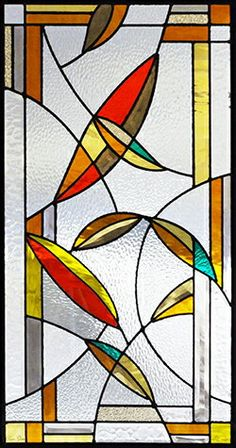 Modern Stained Glass, Stained Glass Door, Stained Glass Crafts, Stained Glass Designs, Stained Glass Panels, Stained Glass Patterns, Leaded Glass, Glass Railing, Art Of Glass