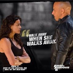 Fast and Furious 6 quote Furious Movie, The Furious, Vin Diesel Quotes, Fast And Furious Actors, Movie Quotes, Funny Quotes, Dom And Letty, Dominic Toretto, Tv Show Couples
