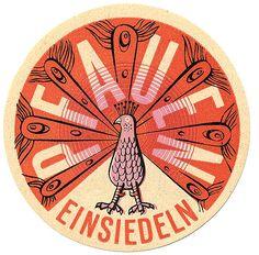 1950's Swiss Luggage Label