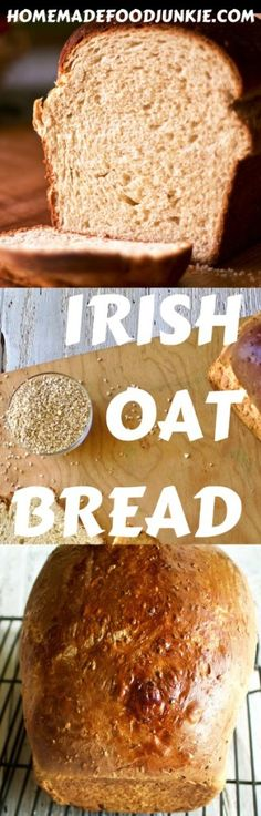 Irish Oat Bread makes delicious bread with butter, toast and sandwiches. Full of Irish, or Steel cut oats. I'm using Bob's Red Mill organic quick Irish oats for a heavenly, healthy, homemade bread. HomemadeFoodJunkie.com