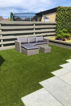 Is a garden renovation on your to-do list? 🤔 Check out the images to see how artificial grass and outdoor porcelain tiles can completely transform your garden. Light grey 20mm outdoor porcelain paired with artificial grass. Outdoor Porcelain Tile, Porcelain Tiles, Outdoor Furniture Sets, Outdoor Decor, Grass, Canning, Garden, Check, Image