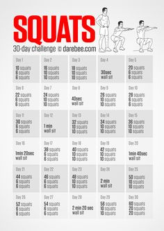 30 Day Squat a Challenge. Download High Resolution .PDF poster