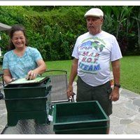 Vermicasting - vermicomposting - worm composting.. the worm tower.. has video of Glenn and Natalie from Olomana gardens visiting us and sharing their manao