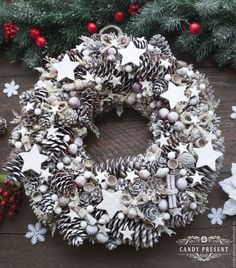 ru / Фото - Неконфетные вытваряшки - candy-present Handmade Christmas Decorations, Rustic Christmas, Xmas Decorations, Winter Christmas, All Things Christmas, Vintage Christmas, Christmas Holidays, Christmas Crafts, Xmas Wreaths