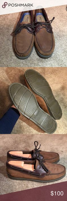 """NWOT Men Sperry Top-Siders """"Leeward"""" Boat Shoes NWOT, never worn, authentic Sperry Top-Sider Leeward 2-Eye Boat Shoes. Real leather, amazing quality, and perfect for summer. Only minor defect on tip of toe in front from manufacturer. No original box. Does not include shoe inserts. Non smoking home. Fast shipper!!! Sperry Shoes Boat Shoes"""