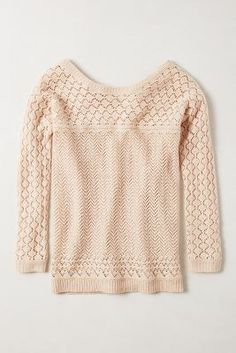 bellevue pullover / anthropologie-the woven detail is gorgeous, the color is perfect, and cropped sleeve length is perfect.