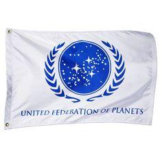United Federation of Planets Flag (White)