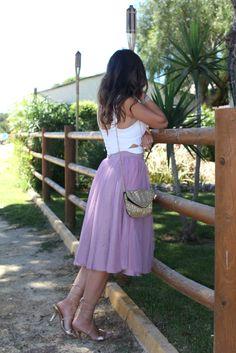 Falda de tul / Tulle skirt  http://moodthemode.com/