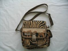 Pioneer Express Canvas African Safari Animals Cross Body Shoulder Hand Bag