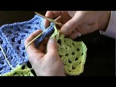 AllFreeCrochet.com - Free Crochet Patterns, Crochet Projects, Tips, Video, How-To Crochet and More * How to join Granny Squares-Method 2-Part 2