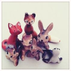 old porcelain animal collection