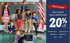 Gymboree: Free shipping on all orders today!  Today only (July 28, 2015), Gymboree is offering free shipping on all orders. No minimum order required.  Gymboree has School Uniforms on sale Buy One, Get One 50% off plus more sales going on today.