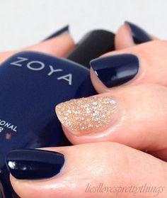 Zoya Ryan with Zoya Bar accent #zoyanailpolish #notd #manicure