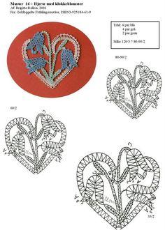 Photo from album Irish Crochet, Crochet Motif, Bobbin Lacemaking, Bobbin Lace Patterns, Lace Heart, Point Lace, Lace Jewelry, Needle Lace, Lace Making