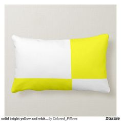 Shop solid bright yellow and white pillow created by Colored_Pillows. Lumbar Pillow, Bed Pillows, Decor Pillows, Custom Pillows, Decorative Pillows, Yellow Pillows, Great Gifts For Men, Perfect Pillow, Bright Yellow