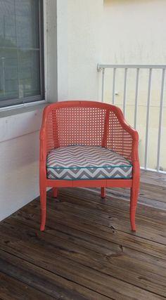 Cane Barrel Chair.Vintage Cane Chair.Barrel Chair.Bamboo Chair.Accent Chair.Dining Chair.Desk Chair.Side Chair.