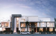Get exterior design ideas for your modern house elevation with our 50 unique modern house facades. We show luxury house elevations right through to one-storeys. Best Modern House Design, Modern Villa Design, Modern Exterior House Designs, House Front Design, Dream House Exterior, Exterior Design, Modern House Facades, Modern Architecture House, Architecture Design