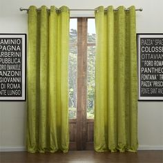 (Two Panels) Modern Life in the Green Energy Saving Curtain with Sheer Set – GBP £ Lime Green Curtains, White Curtains, Curtains With Blinds, Panel Curtains, Living Room Drapes, Cheap Curtains, Double Curtains, Home Interior, Interior Design