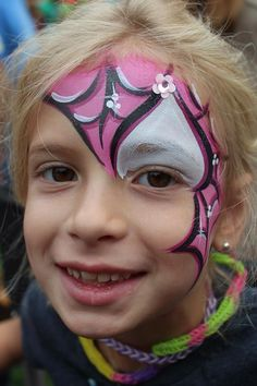 Very cool bat girl, love the low lights || Fanciful Faces, Chicago Face Painting - Chantal Rushing