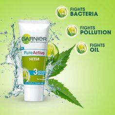 GarnierPureActive neem facewash for clear skin Pimple, Face Wash, Clear Skin, Range, Pure Products, Free, Fashion, Moda, Cookers