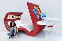 contemporary bed for teenage bedroom design
