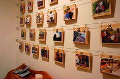 cute ways to hang up pictures | ディスプレイ術】写真・ポストカードのオシャレ ...