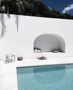 home, pillows, and pool image
