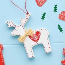 Nordic White Reindeer Decoration