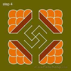 8x8 Dot Rangoli Step 4