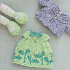 Ravelry: tausigma's Seedlings Dress & Lavender Cardi