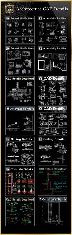【All 40 Architecture CAD Details Collections】 (Total 40 Best Collections) | Download CAD Blocks,Drawings,Details,3D,PSD Blocks