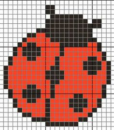 Ladybug perler bead pattern