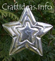 Embossed metal star ornament/tag