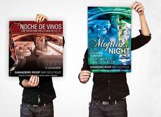 Afiches promocionales para eventos en Ganadero diseñado por Ambros Imprenta Digital & Estudio de Diseño