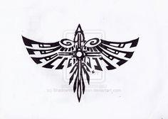 Hawk Tribal 1 by Skrayle on DeviantArt - anni Backpiece Tattoo, Raven Tattoo, Native American Totem, Native American Symbols, Samoan Tribal Tattoos, Tribal Sleeve Tattoos, Blackwork, Falke Tattoo, Thunderbird Tattoo