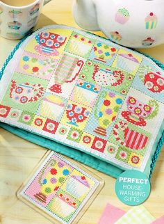 Didn't know if I should Pin under tea or cross stitch dreams.  :-) Lucie Heaton Time FOR TEA