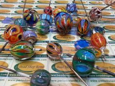 Bead Shop Rome®-La Perla D'Oriente©: Mixed Mixed Lampwork Glass Beads in Rome Italy ,,,,, BEAD SHOP ROME ® Via Sora 30/31 Rome 00186 Italy , Rankoussi Glass .