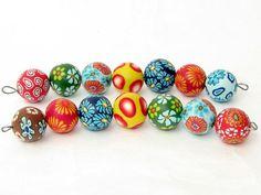Capri Perlenset aus Polymer Clay handgefertigt von polymerdesign