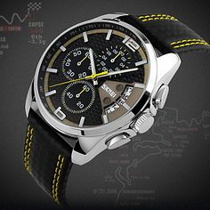 SKMEI®+Men's+Fashion+Sport+Racing+Design+Leather+Quartz+Chrono+Watch+Cool+Watch+Unique+Watch+–+USD+$+18.69