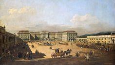 Bernardo Bellotto, genannt Canaletto, Das kaiserliche Lustschloss Schönbrunn, Ehrenhofseite