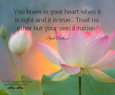 Always trust the Intuition of your Heart Space. If it doesn't feel right it isn't. <3 -Mary Long-