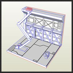 Two Gundam Hangar Paper Models Free Download - http://www.papercraftsquare.com/two-gundam-hangar-paper-models-free-download.html